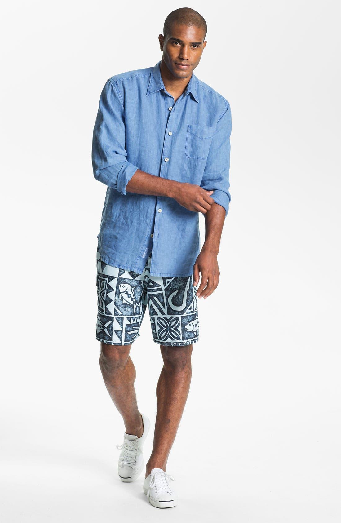 Alternate Image 2  - Tommy Bahama Sport Shirt & Quiksilver Board Shorts