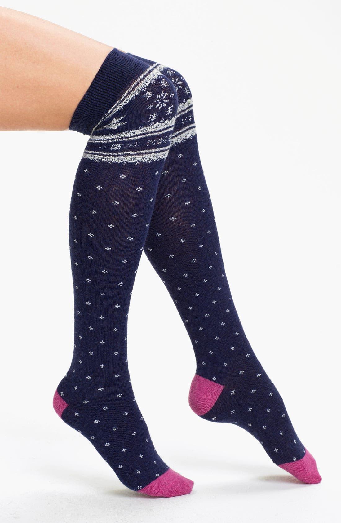 Main Image - Make + Model 'Critter Fair Isle' Over The Knee Socks