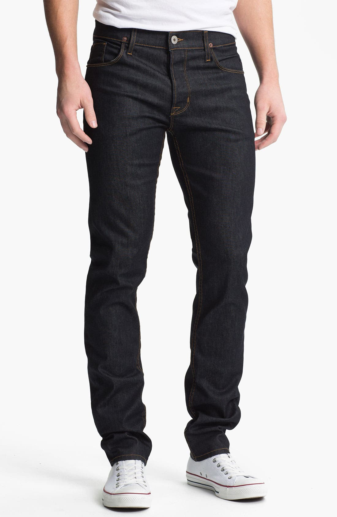 Alternate Image 1  - Hudson Jeans 'Sartor' Skinny Fit Jeans (Edges)