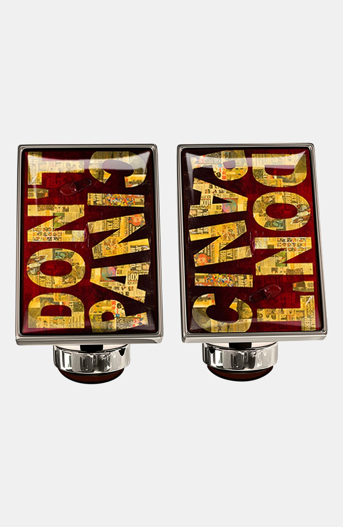 Main Image - Würkin Stiffs 'Don't Panic' Rectangular Cuff Links