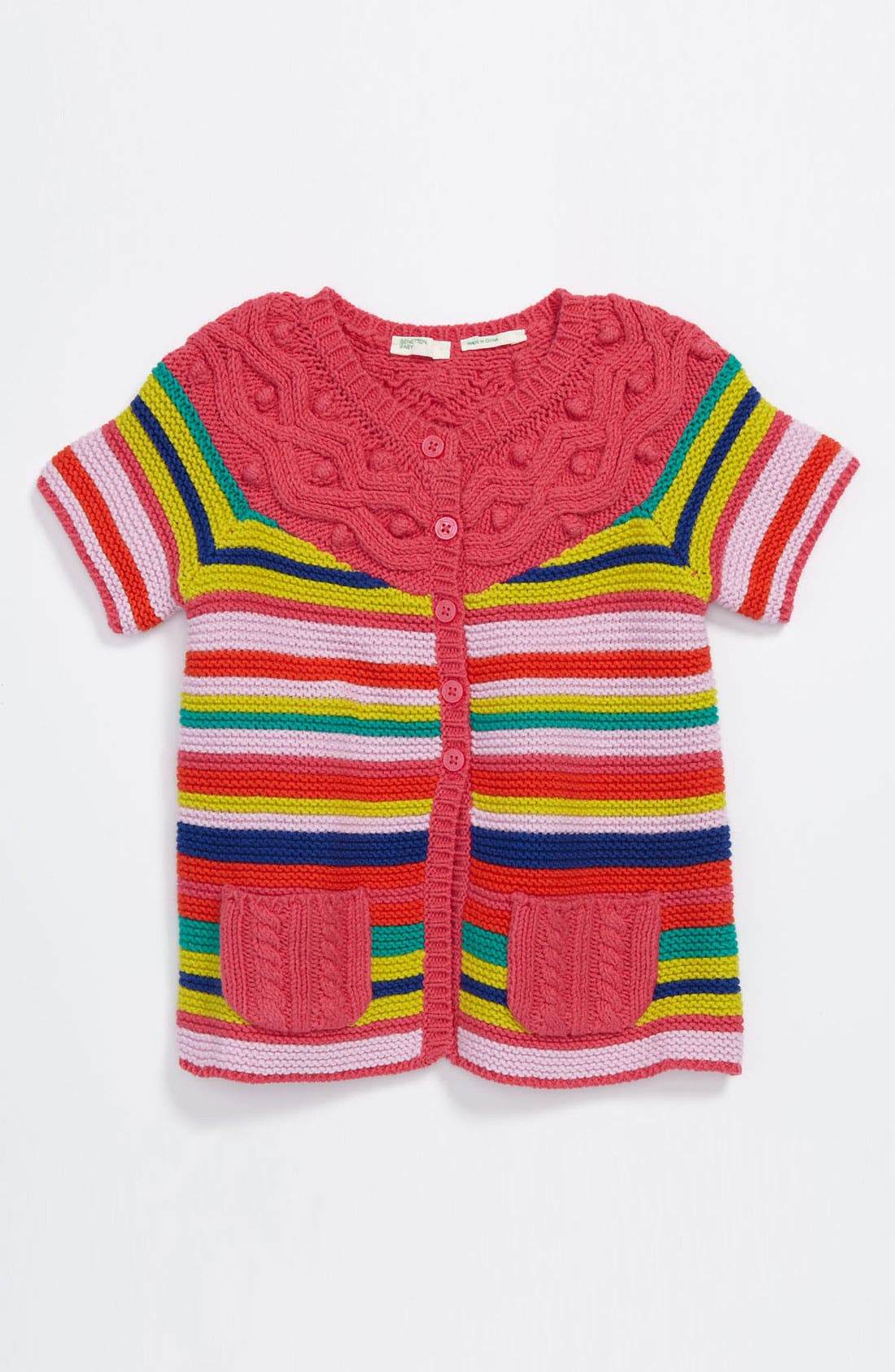 Main Image - United Colors of Benetton Kids Stripe Cardigan (Infant)
