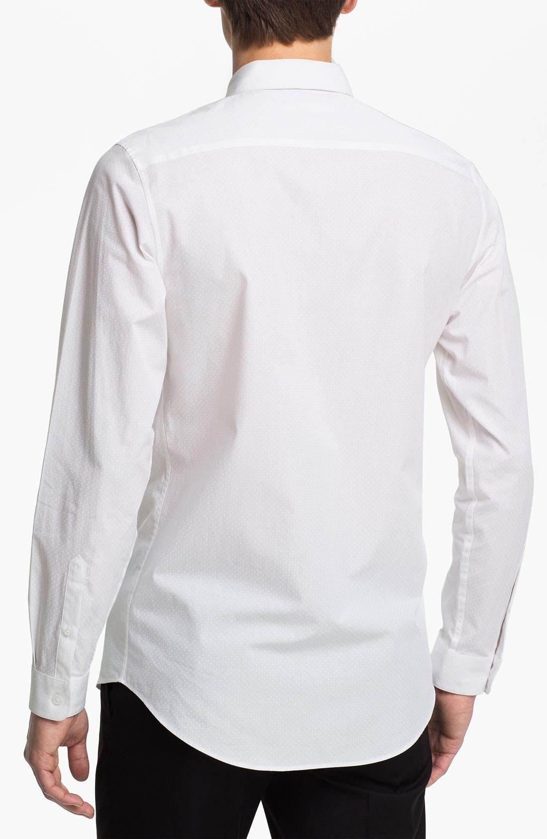 Alternate Image 2  - Topman Slim Fit Tonal Pin Dot Dress Shirt