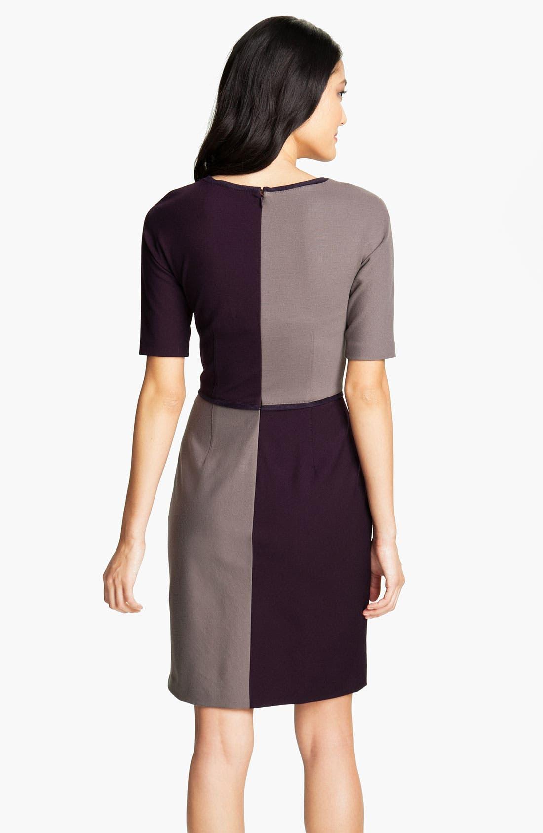 Alternate Image 2  - Suzi Chin for Maggy Boutique Colorblock Sheath Dress (Petite)