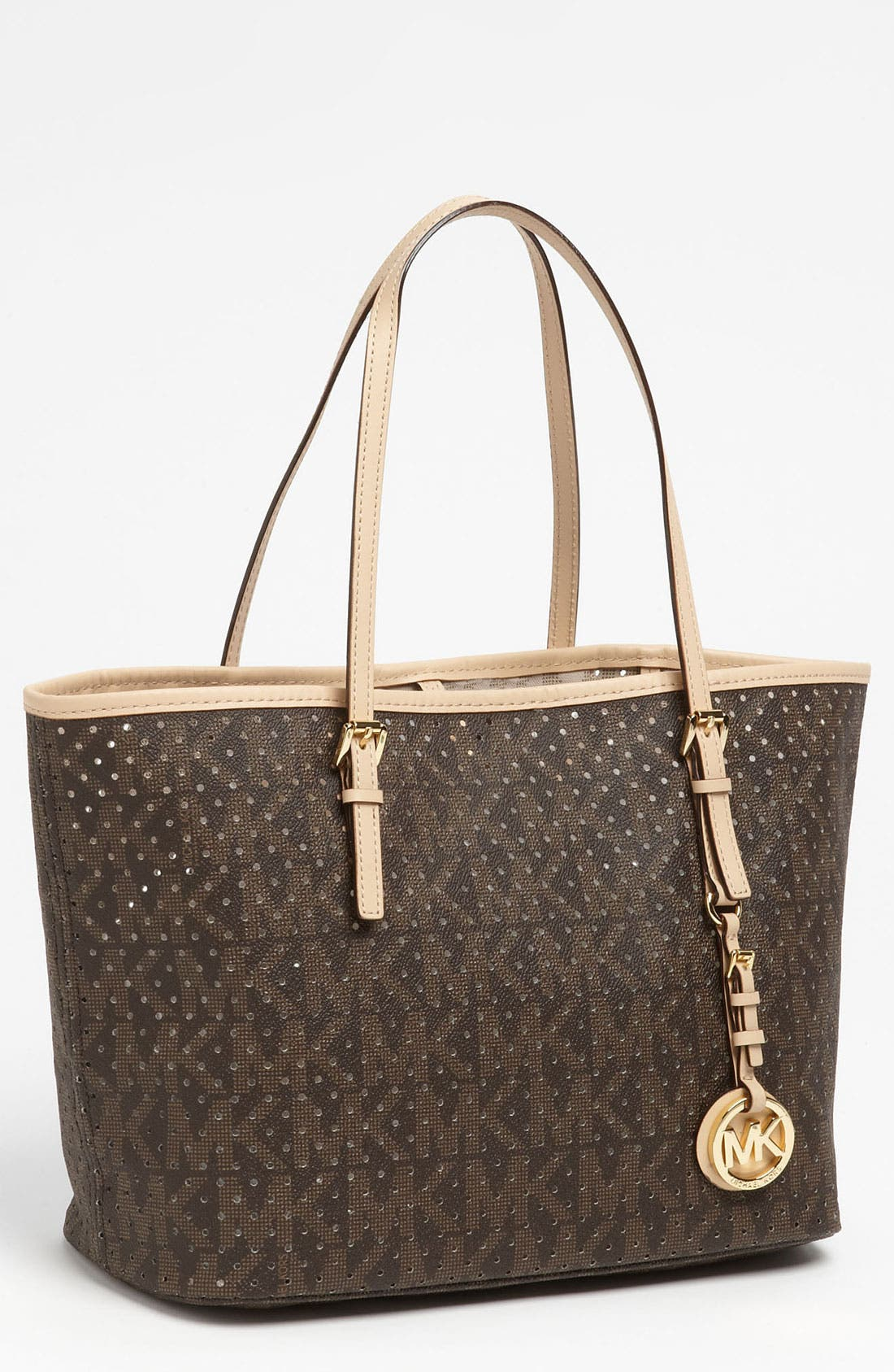 Alternate Image 1 Selected - MICHAEL Michael Kors 'Signature - Small' Perforated Tote