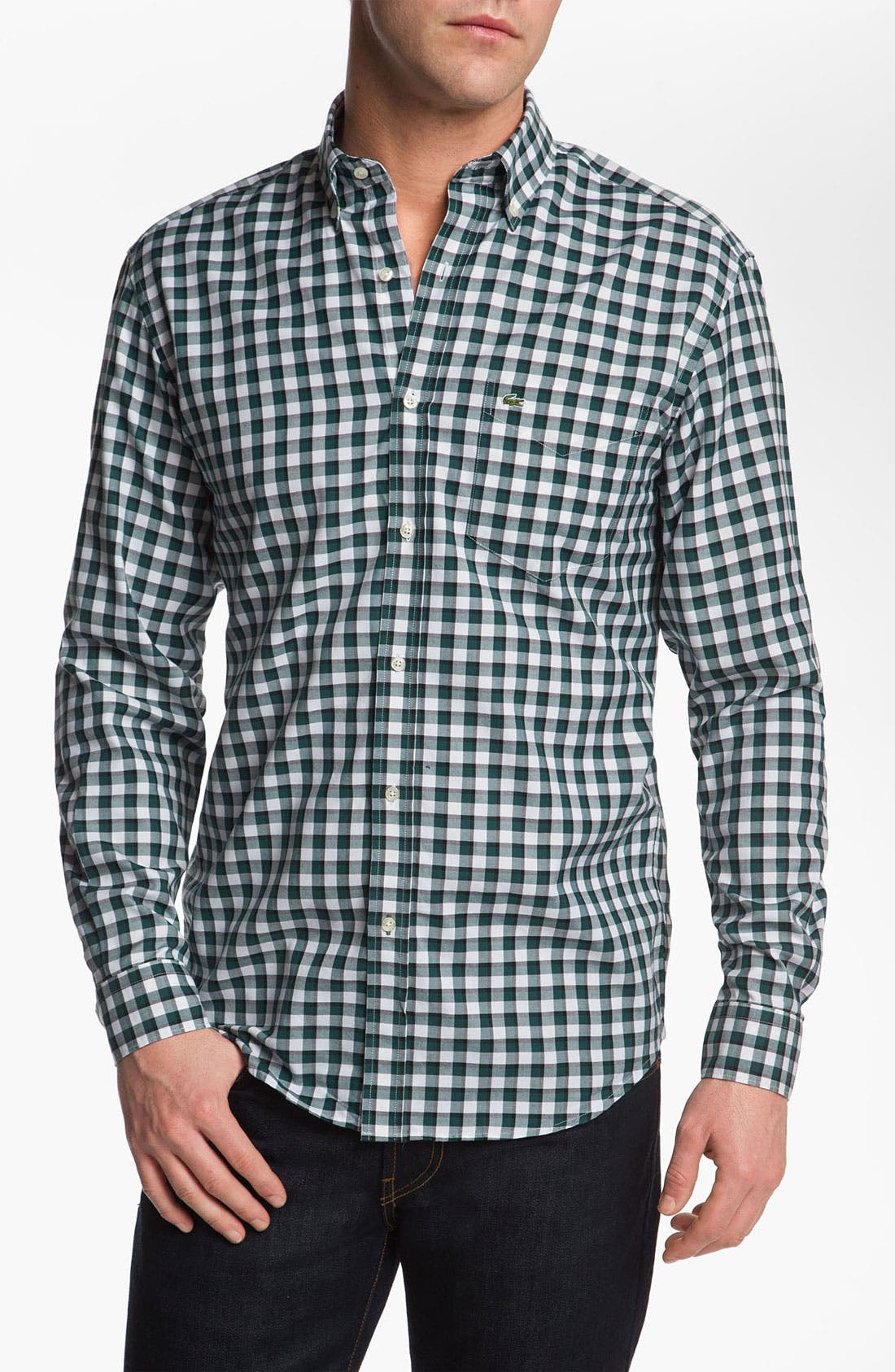Alternate Image 1 Selected - Lacoste Gingham Oxford Shirt
