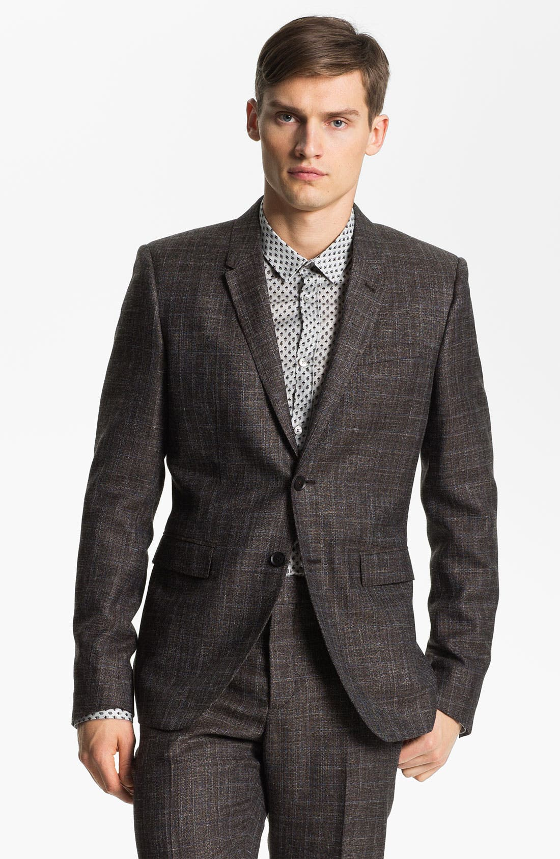 Main Image - Burberry Prorsum Plaid Twill Sportcoat