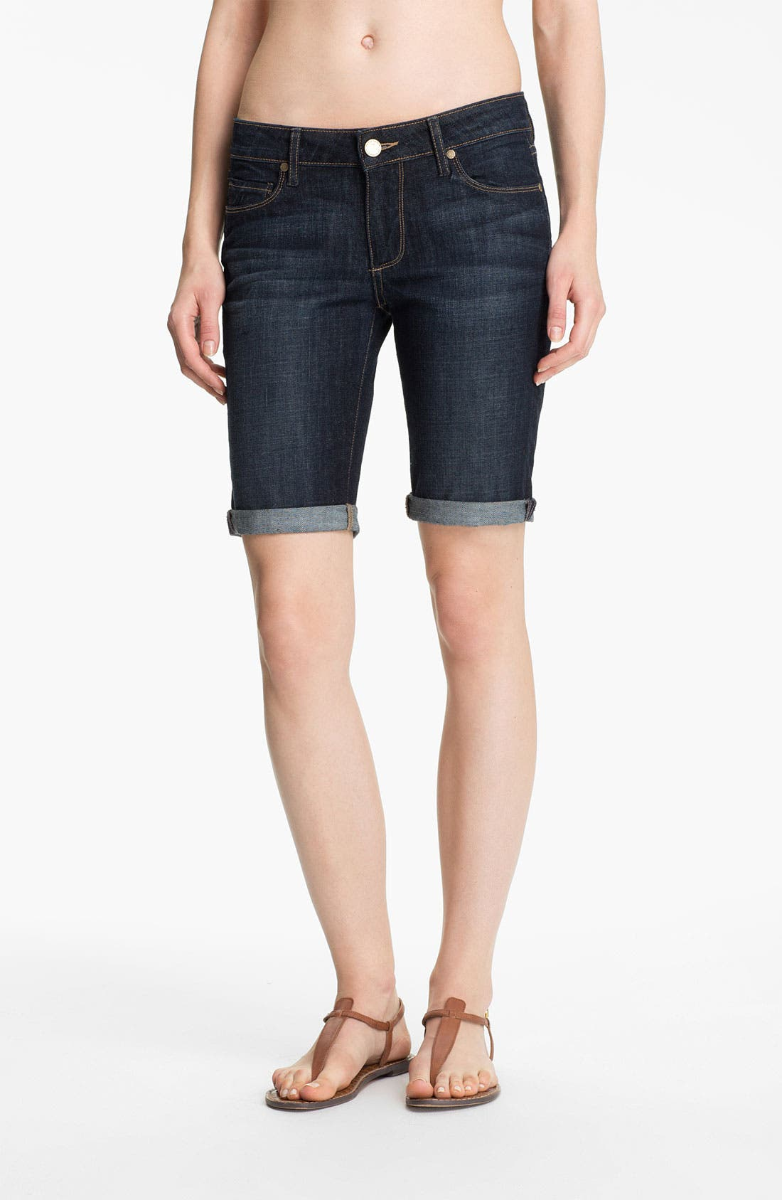 Main Image - Paige Denim 'Jax' Stretch Denim Bermuda Shorts (Dean Wash)