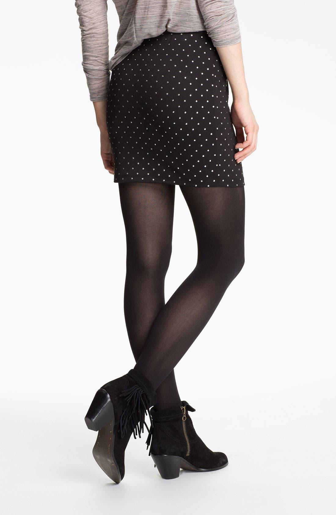 Alternate Image 2  - Lily White Studded Body-Con Miniskirt (Juniors)