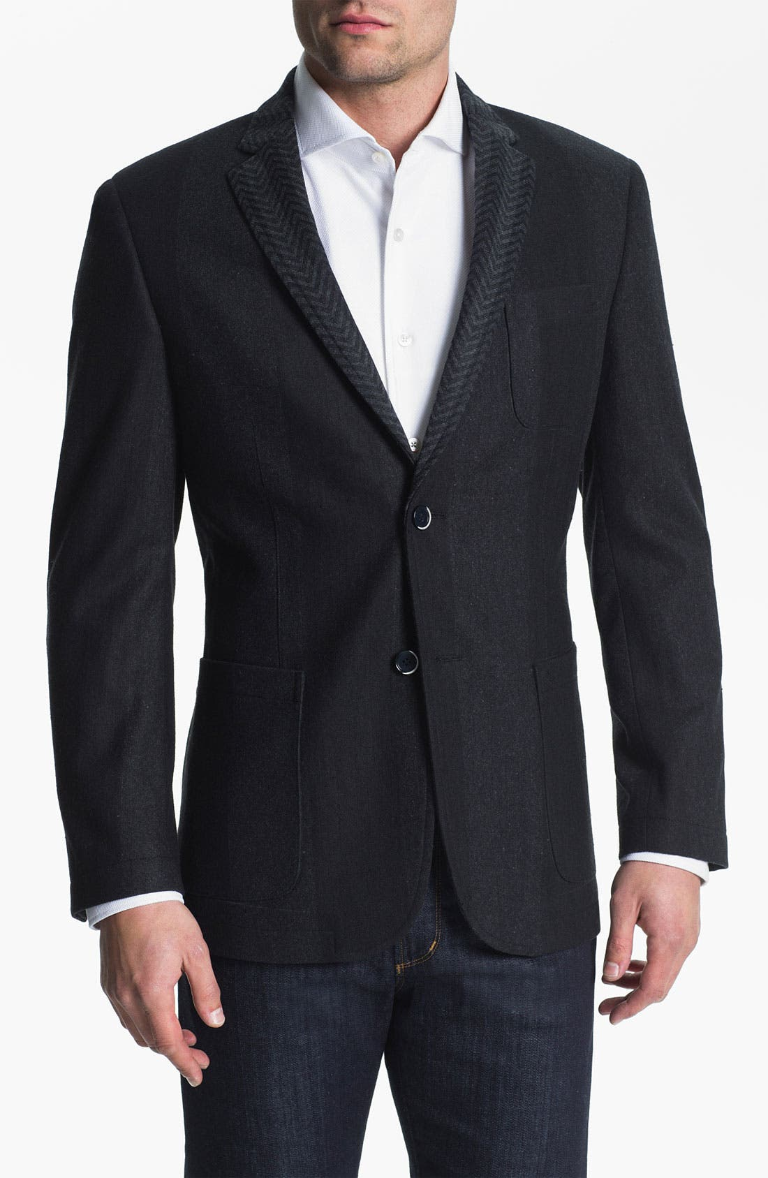 Main Image - Natural Blue Wool Sportcoat (Online Exclusive)