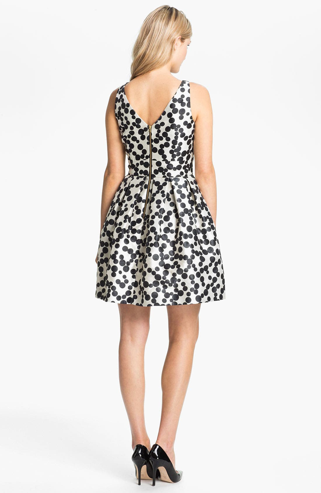 Alternate Image 2  - Taylor Dresses Dotted Fit & Flare Dress