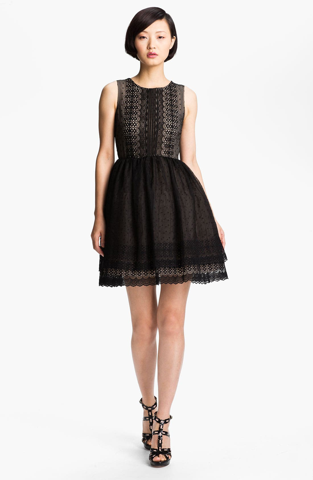 Main Image - RED Valentino 'Chamomile' Embroidered Organza Dress