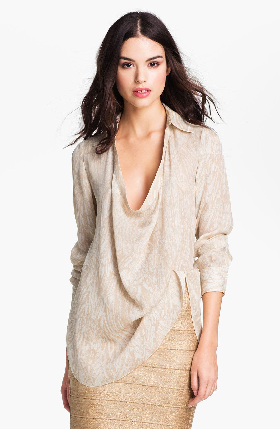 Main Image - Haute Hippie Drape Neck Blouse