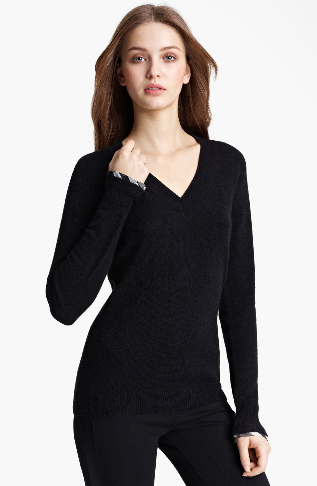 Main Image - Burberry London V-Neck Cashmere Sweater
