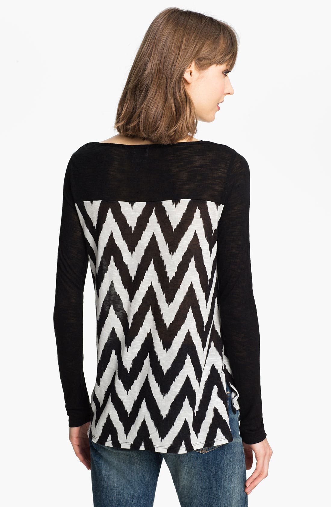 Alternate Image 2  - Ella Moss 'Mazzy' Zigzag Print Top