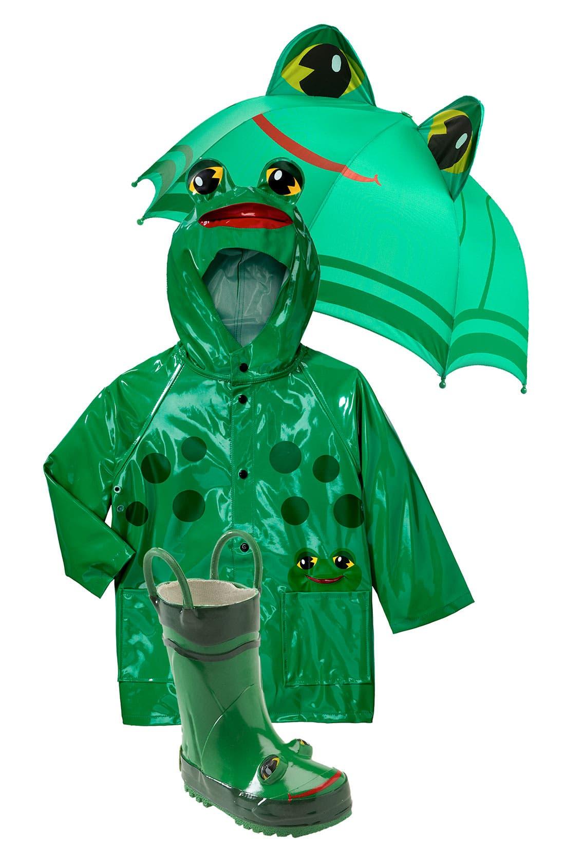 Alternate Image 1 Selected - Western Chief Raincoat, Umbrella & Rain Boot (Toddler & Little Kid)