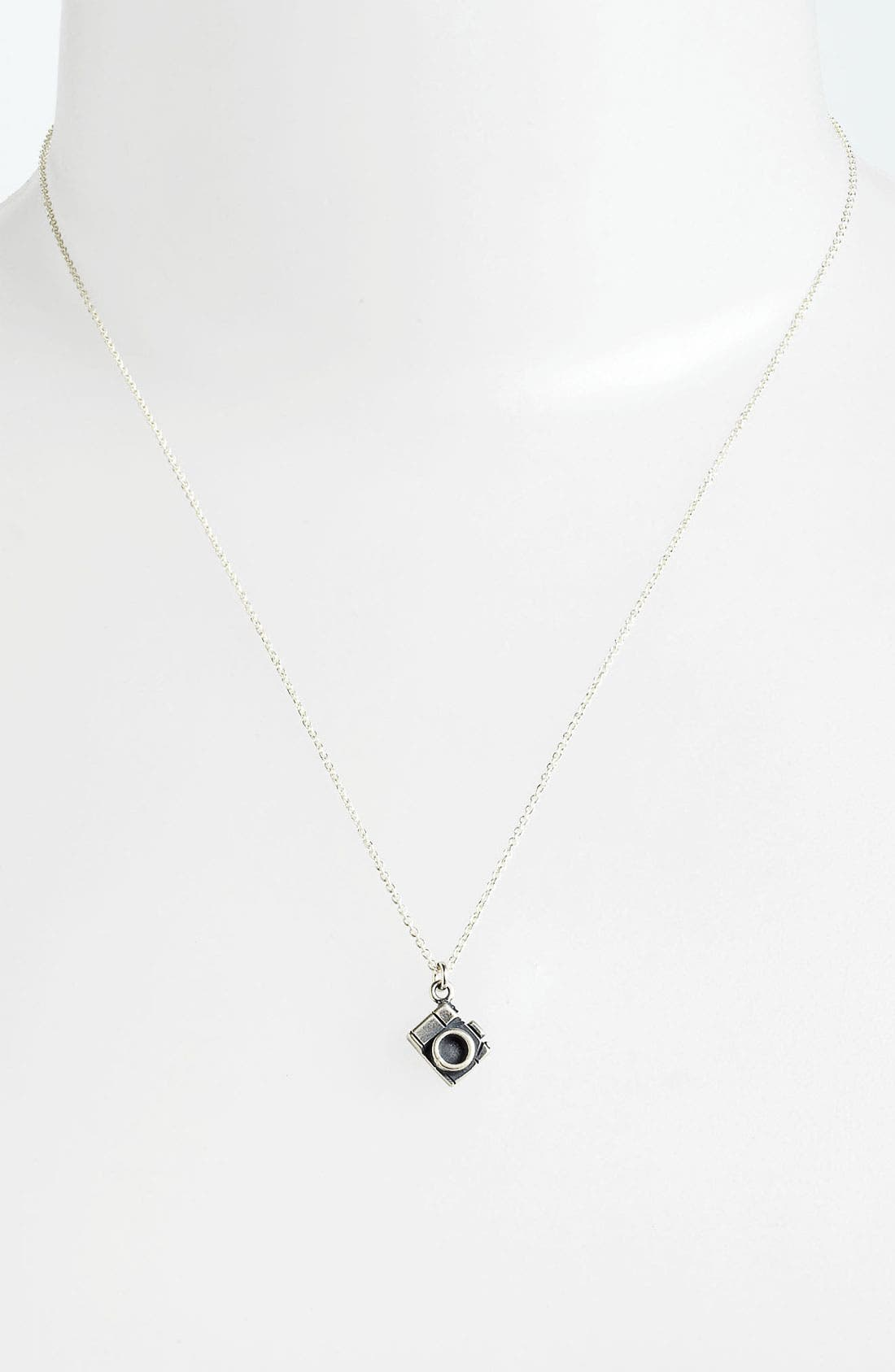 Alternate Image 2  - Dogeared 'Make My Heart Smile' Camera Pendant Necklace