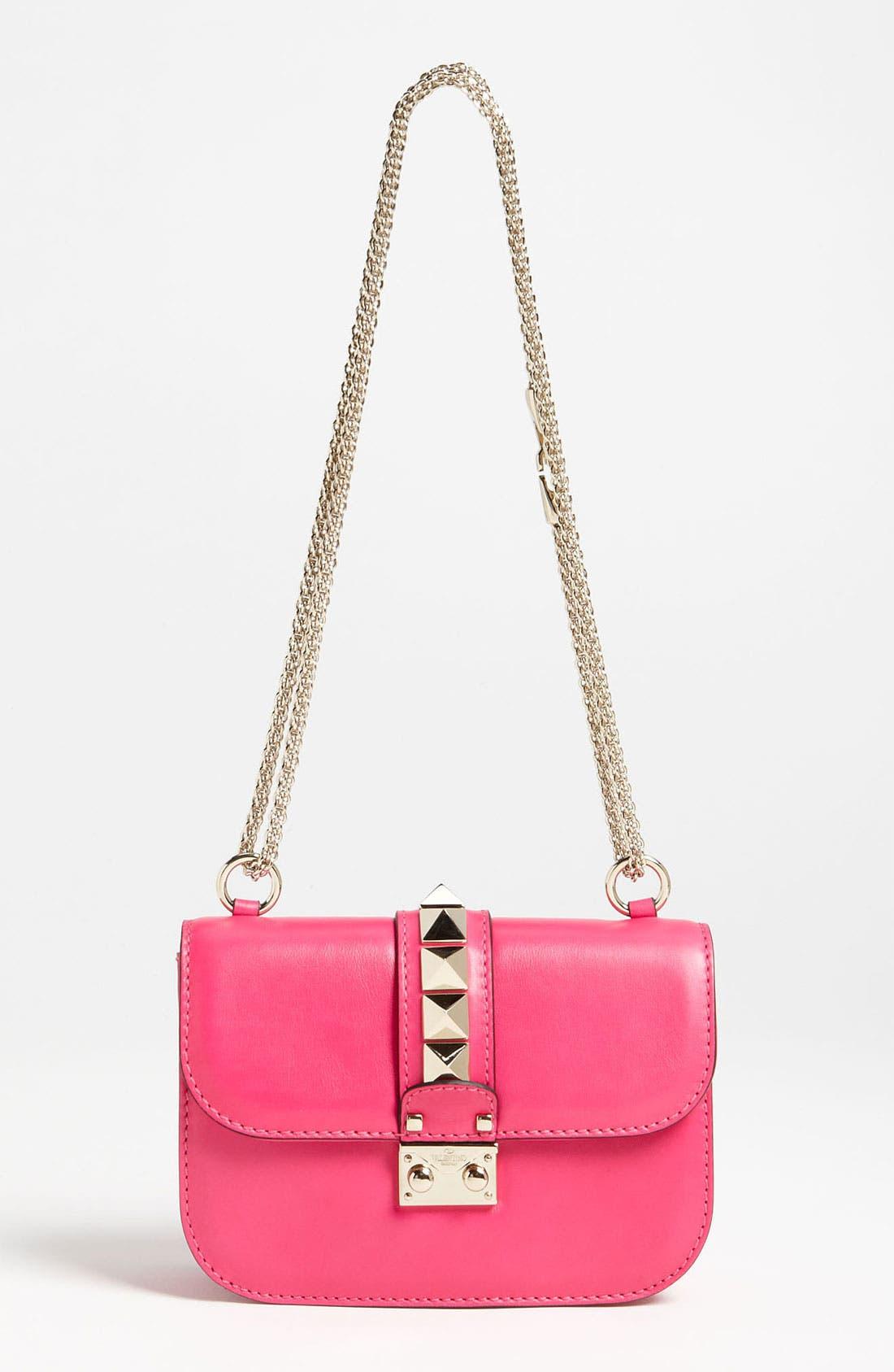 Main Image - Valentino 'Lock - Small' Leather Flap Bag