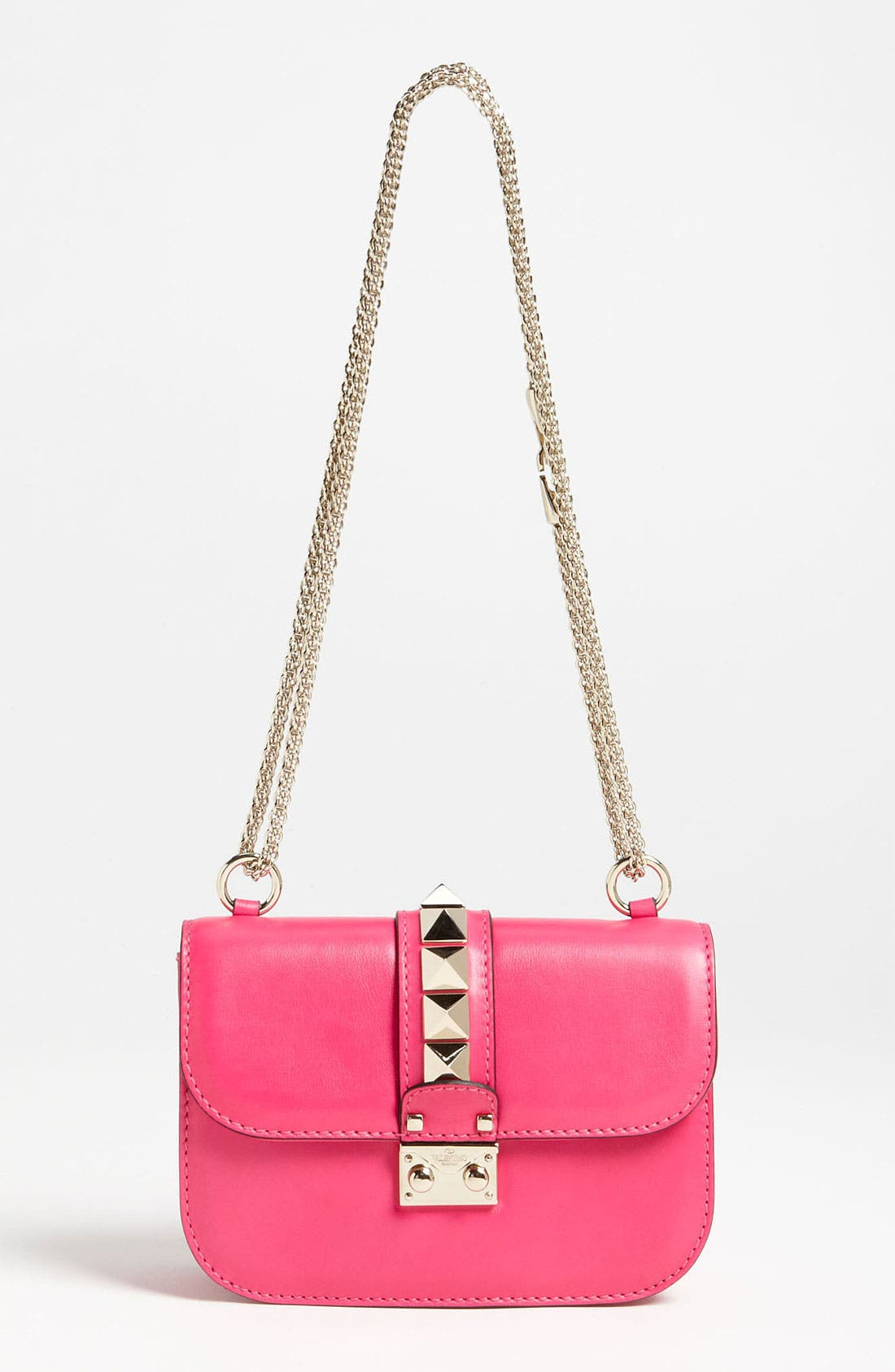 Main Image - Valentino 'Lock - Small' Leather Flap Bag
