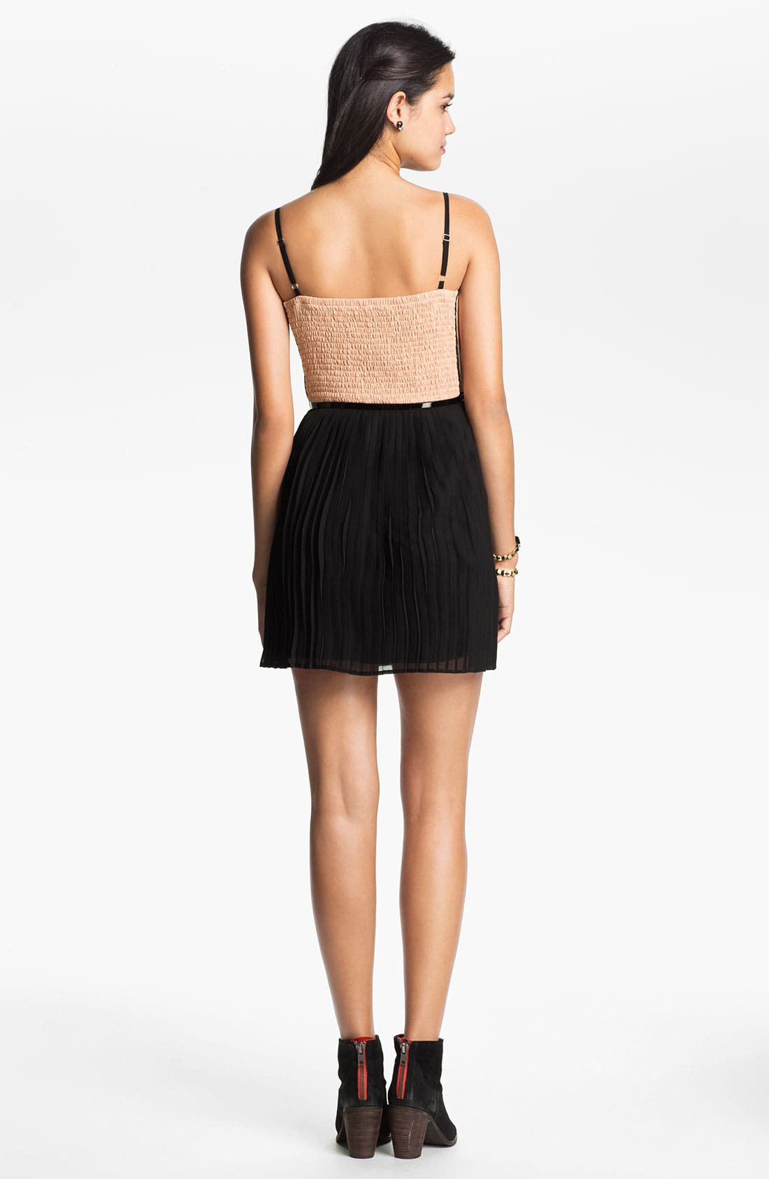 Alternate Image 2  - As U Wish Lace & Tulle Corset Dress (Juniors)