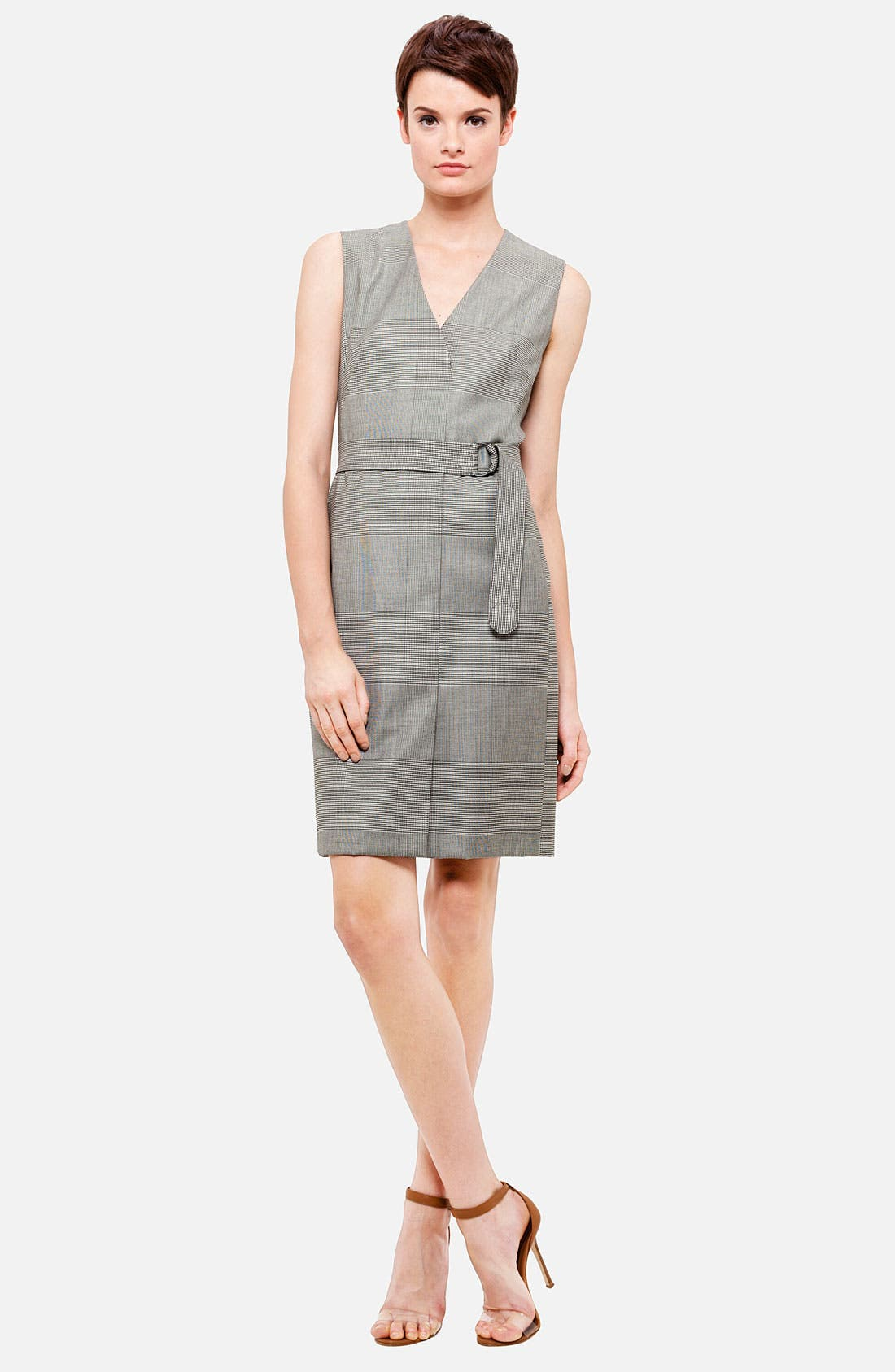 Alternate Image 1 Selected - Akris punto Belted Prince of Wales Dress