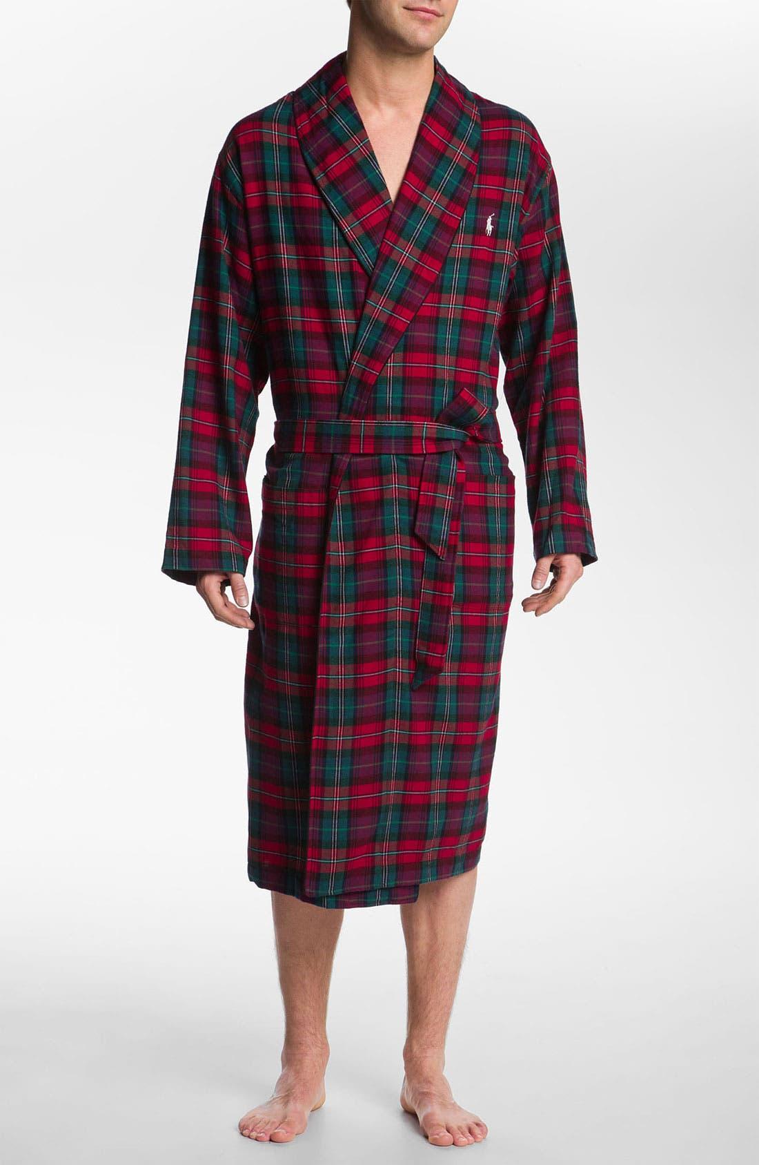 Alternate Image 1 Selected - Polo Ralph Lauren Flannel Robe