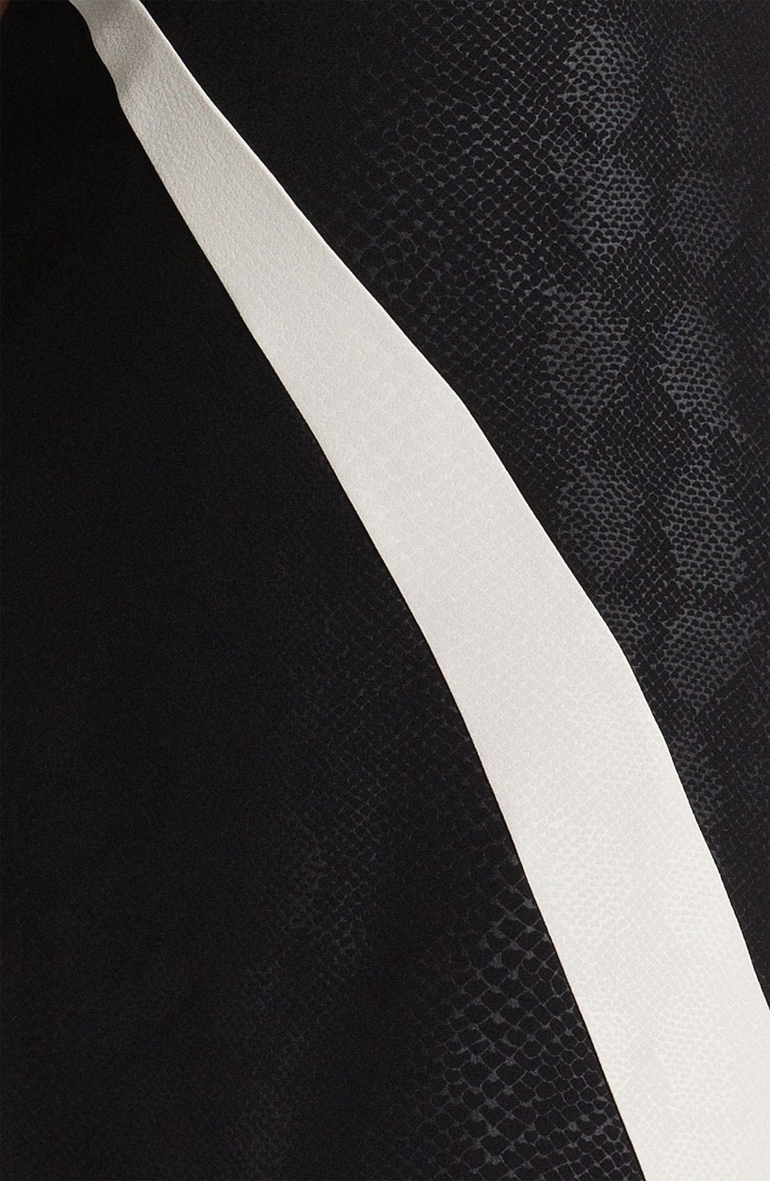 Alternate Image 3  - Adrianna Papell Contrast Panel Snakeskin Pattern Sheath Dress (Plus)