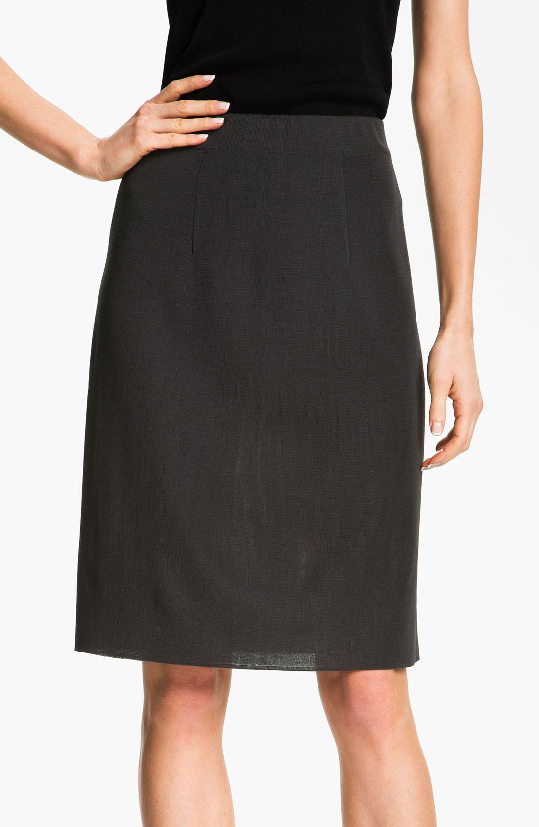 Alternate Image 1 Selected - Misook Pull-On Skirt (Petite) (Online Only)