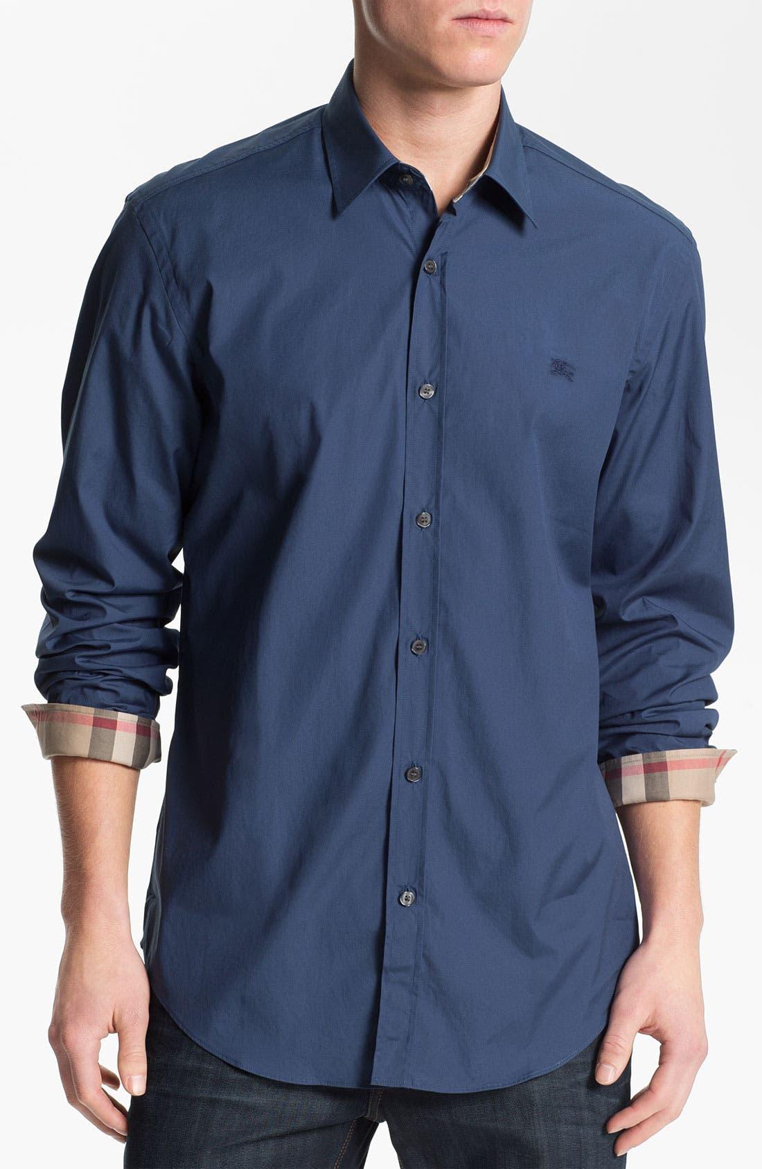 Alternate Image 1 Selected - Burberry Regular Fit Brit Poplin Sport Shirt