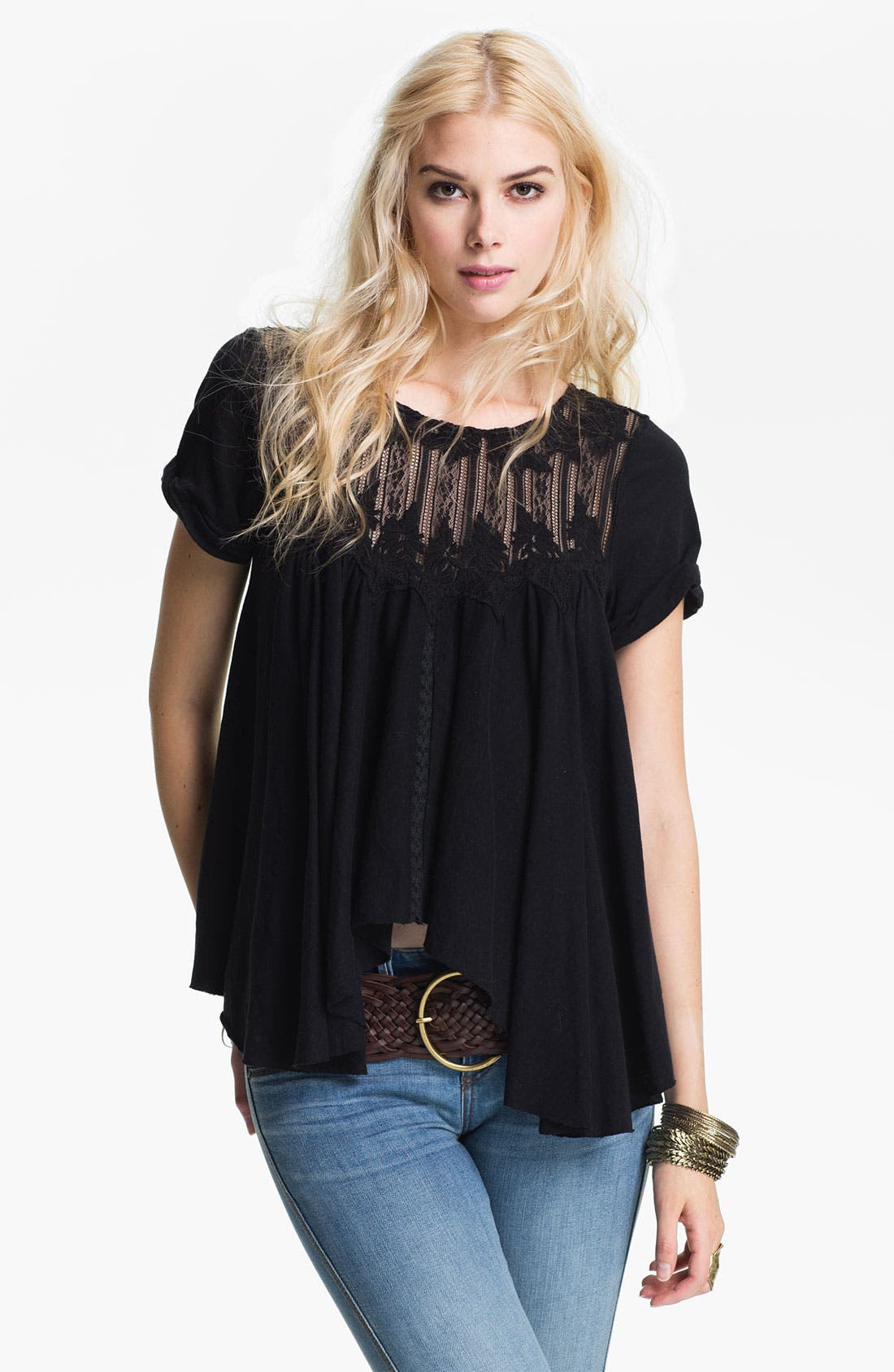 Main Image - Free People 'Dance With Harini' Lace Handkerchief Top