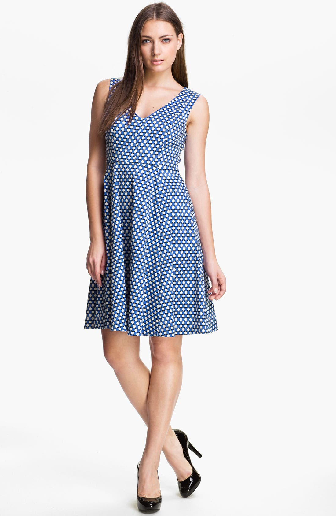 Alternate Image 1 Selected - kate spade new york 'kelley' stretch cotton a-line dress