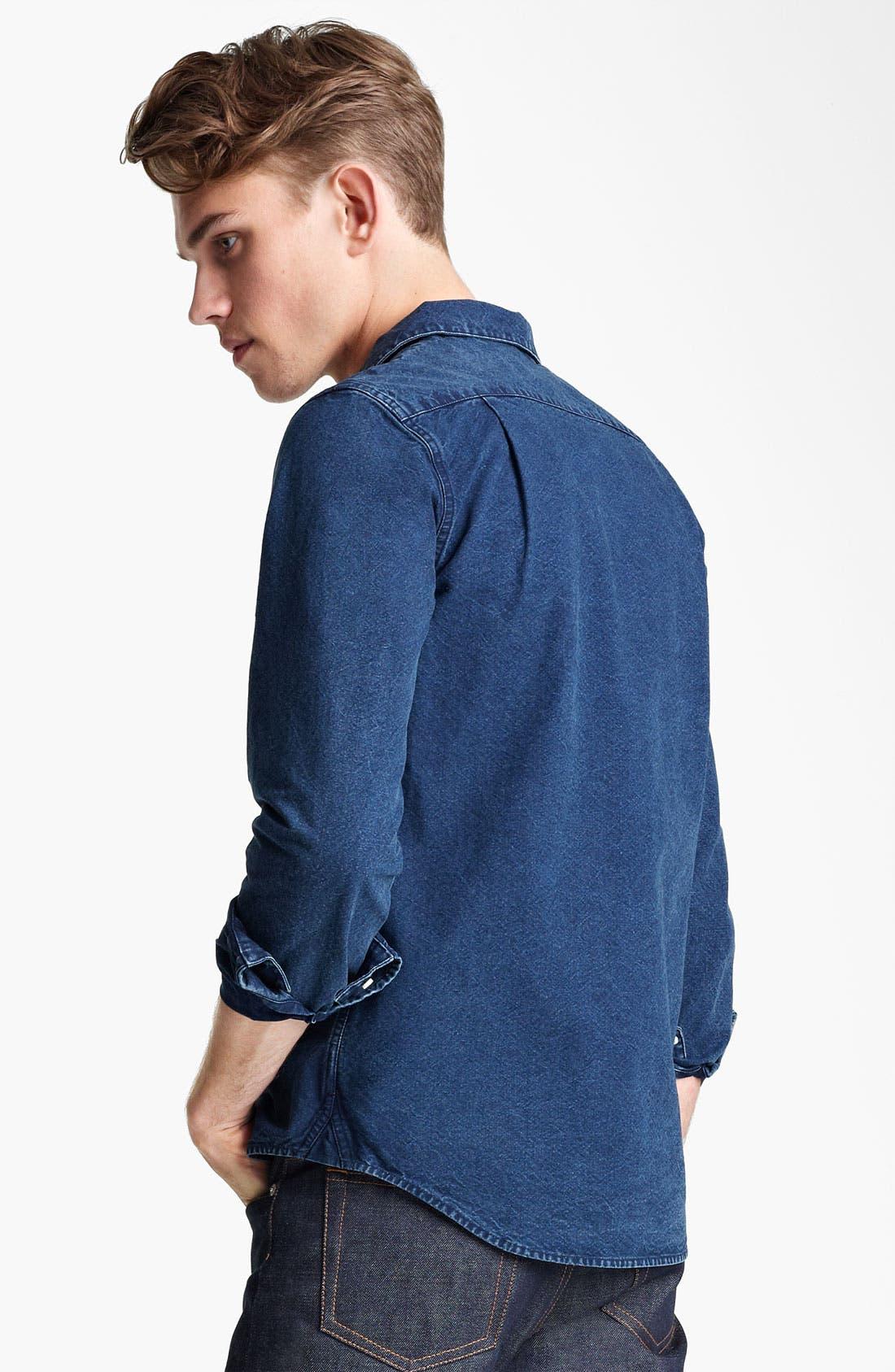 Alternate Image 2  - A.P.C. Denim Shirt