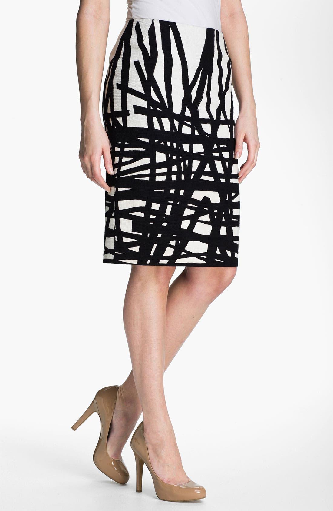 Main Image - Lafayette 148 New York 'Profound Stroke' Print Skirt