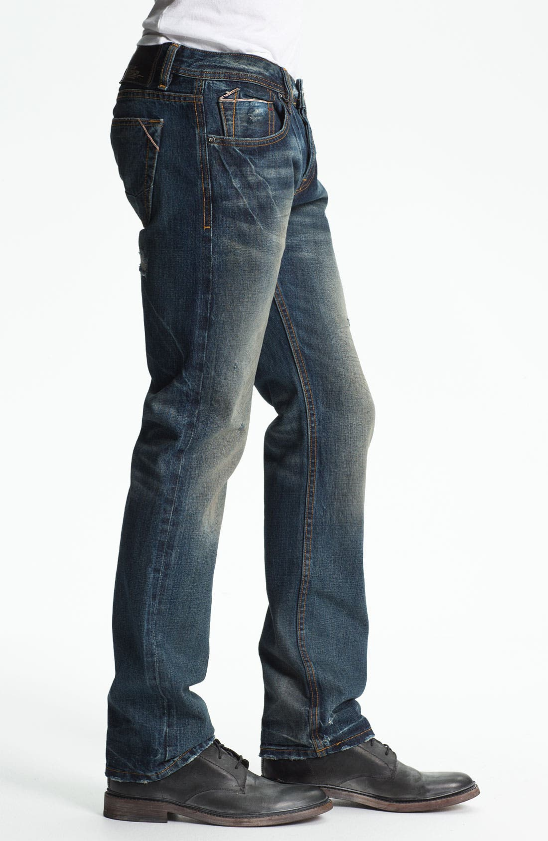 Alternate Image 3  - Cult of Individuality 'Rebel' Straight Leg Jeans (Greaser)