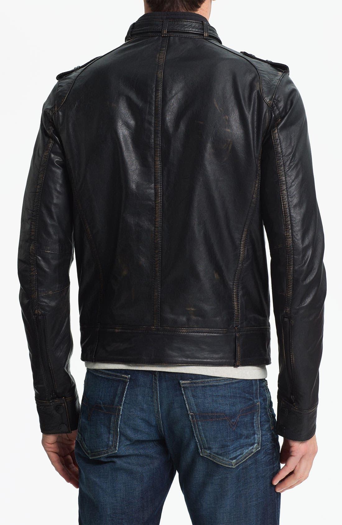Alternate Image 2  - Rogue Leather Moto Jacket