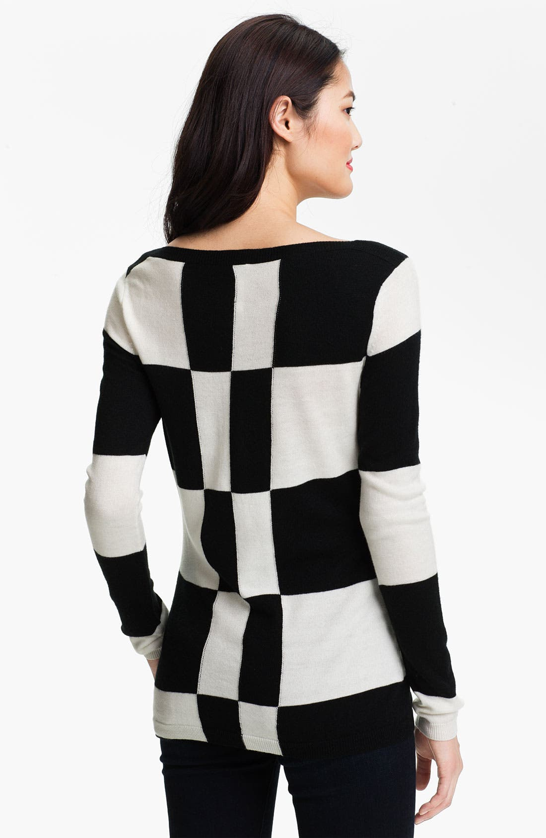 Alternate Image 2  - Vince Camuto Check Pattern Sweater
