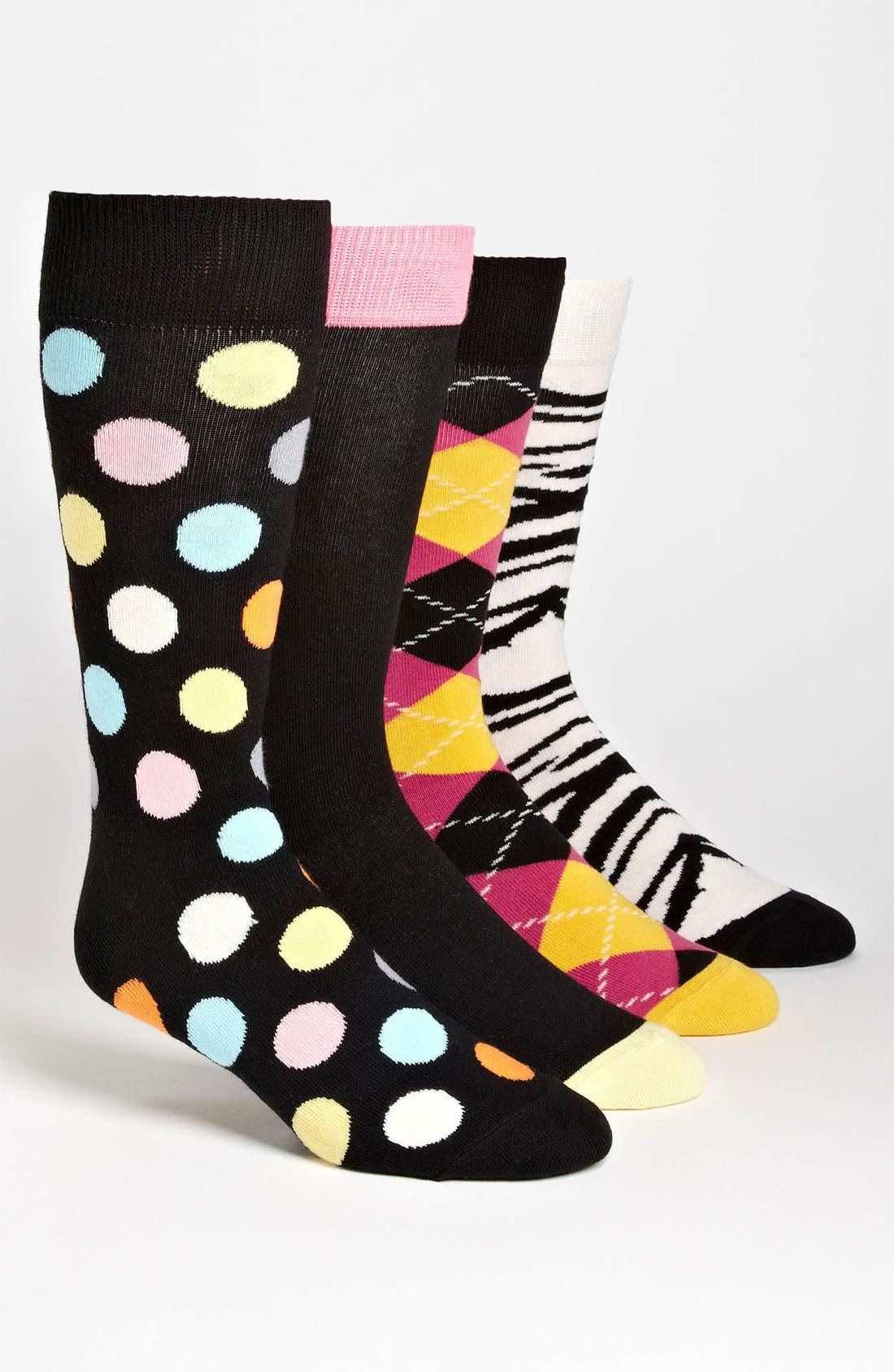 Alternate Image 1 Selected - Happy Socks Cotton Blend Sock Set (4-Pack)