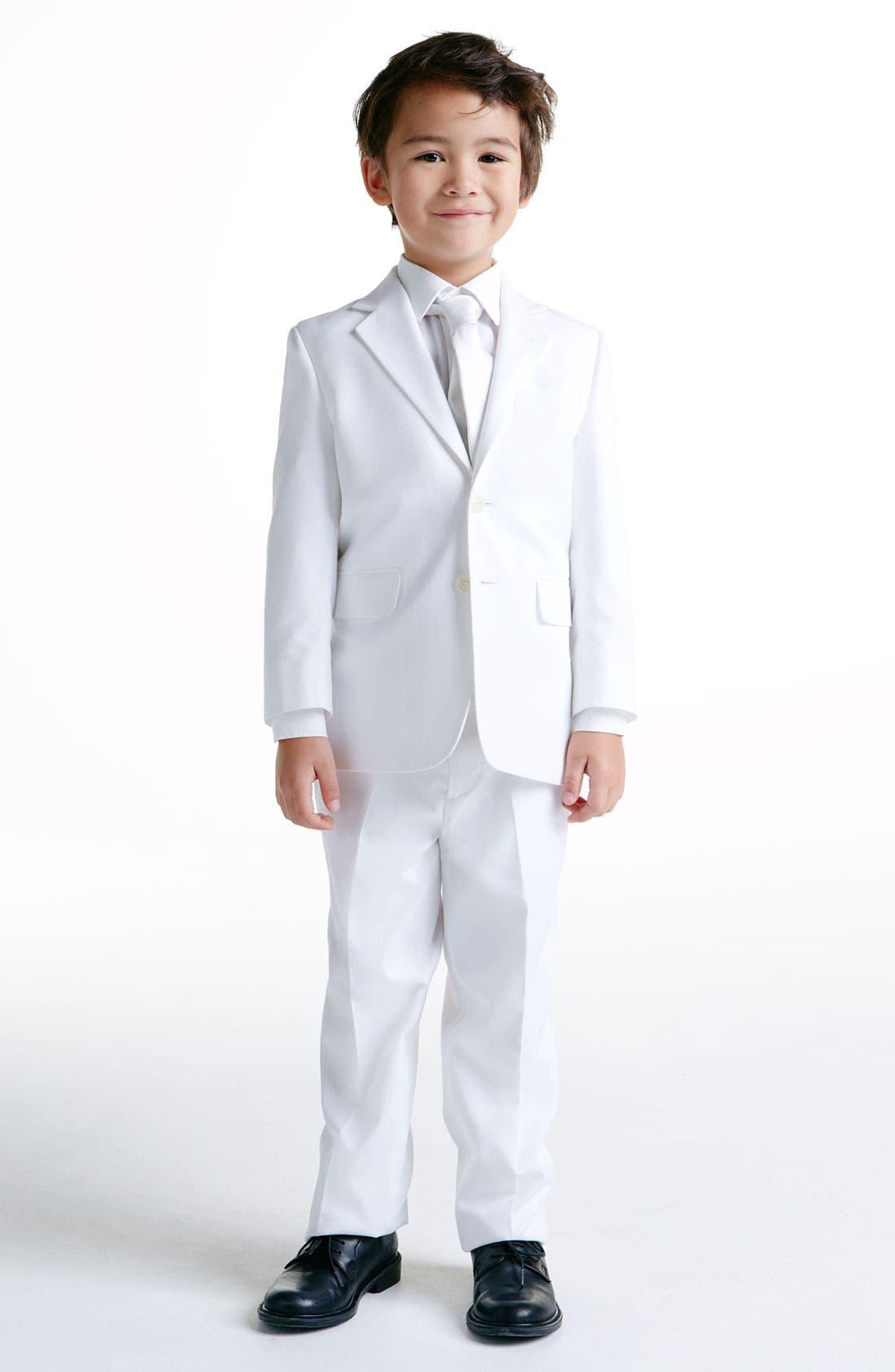 Alternate Image 2  - Nordstrom Solid Twill Zipper Tie (Boys)