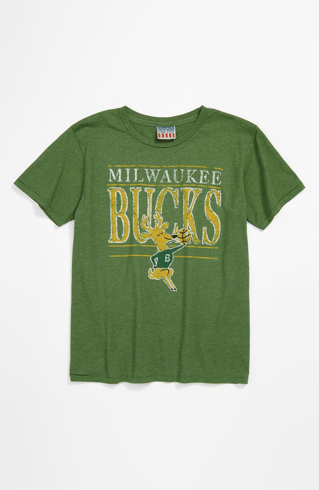 Alternate Image 1 Selected - Junk Food 'Milwaukee Bucks' T-Shirt (Little Boys & Big Boys)