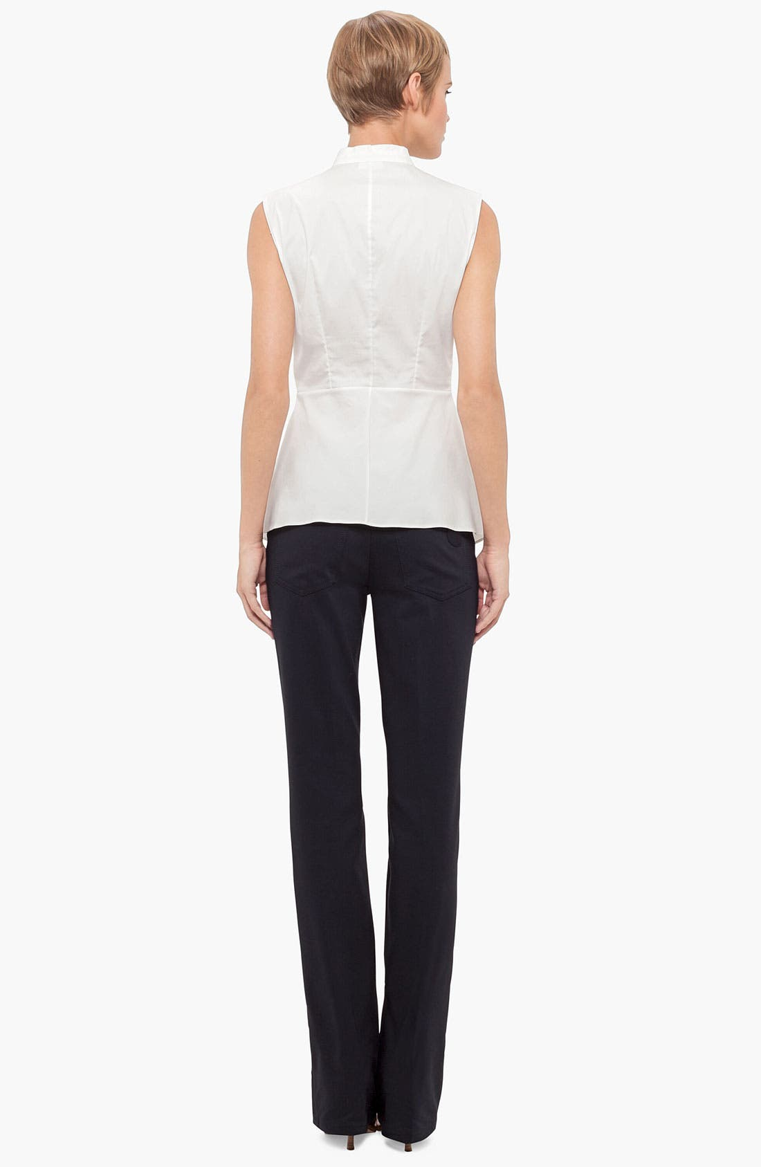 Alternate Image 3  - Akris punto Sleeveless Peplum Blouse