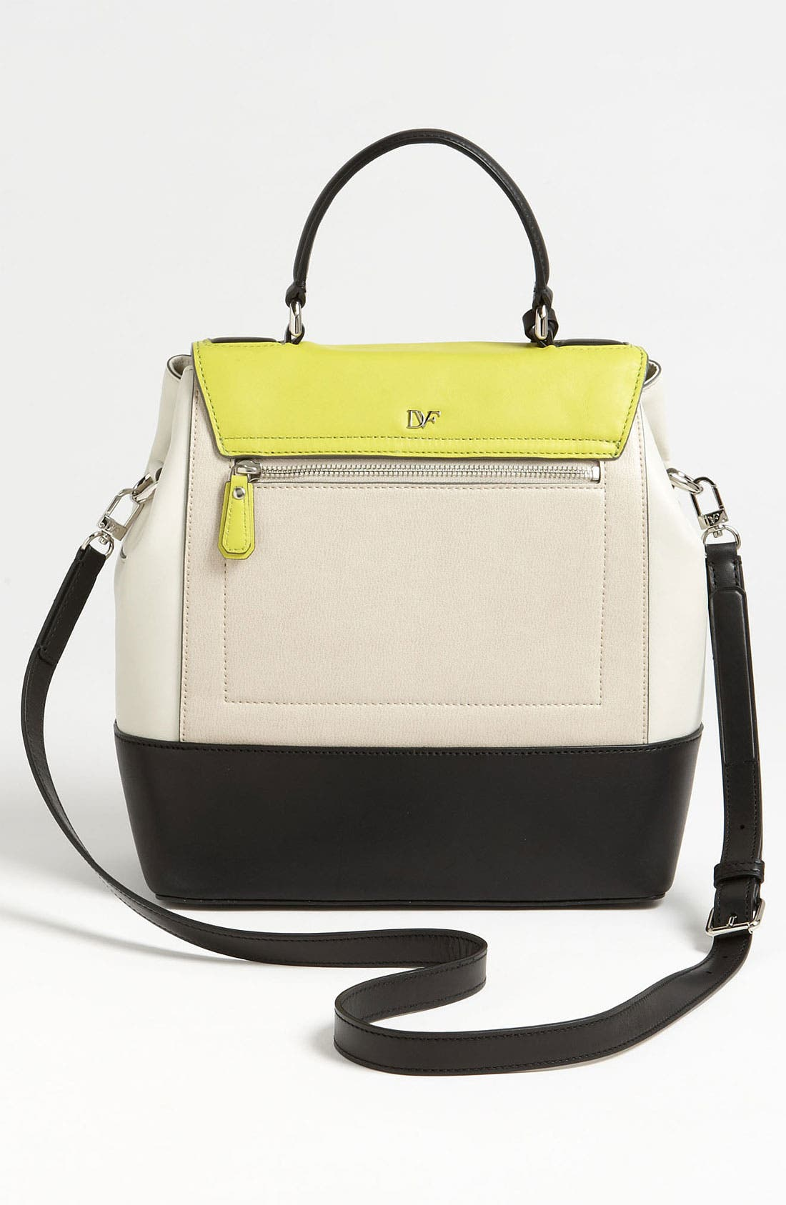 Alternate Image 4  - Diane von Furstenberg '440 Top Handle - Small' Colorblock Satchel