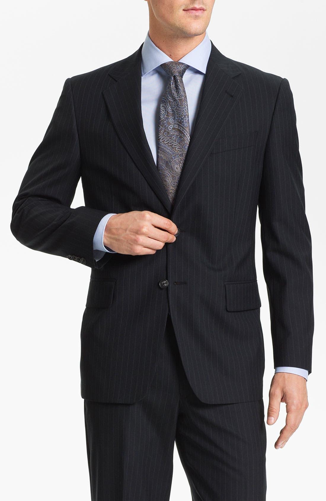 Alternate Image 1 Selected - Joseph Abboud Stripe Suit