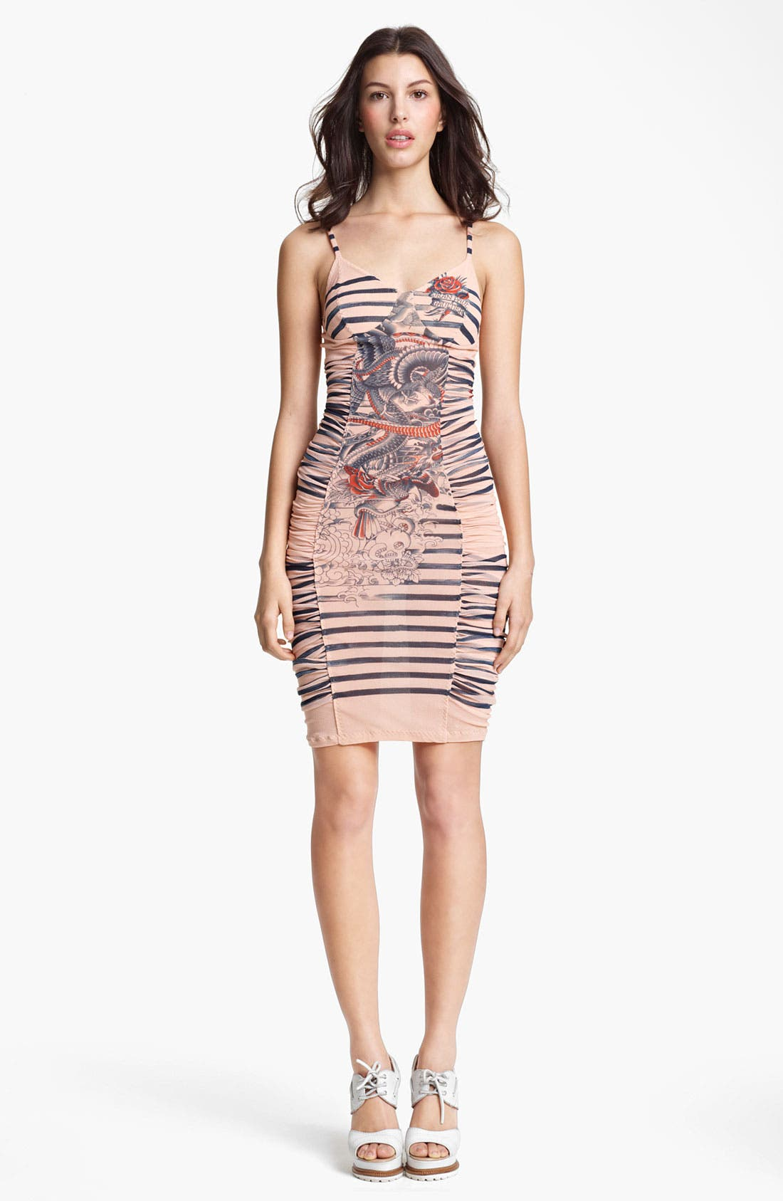 Alternate Image 1 Selected - Jean Paul Gaultier Fuzzi Tattoo Print Tulle Dress