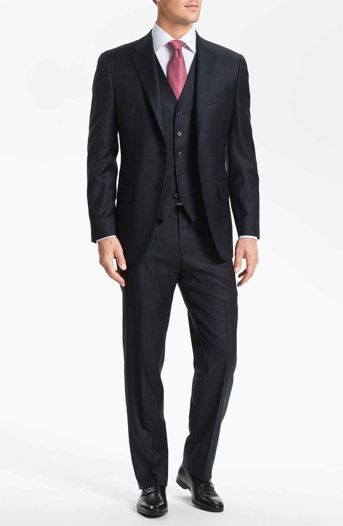 Alternate Image 2  - Joseph Abboud Trim Fit Three Piece Suit