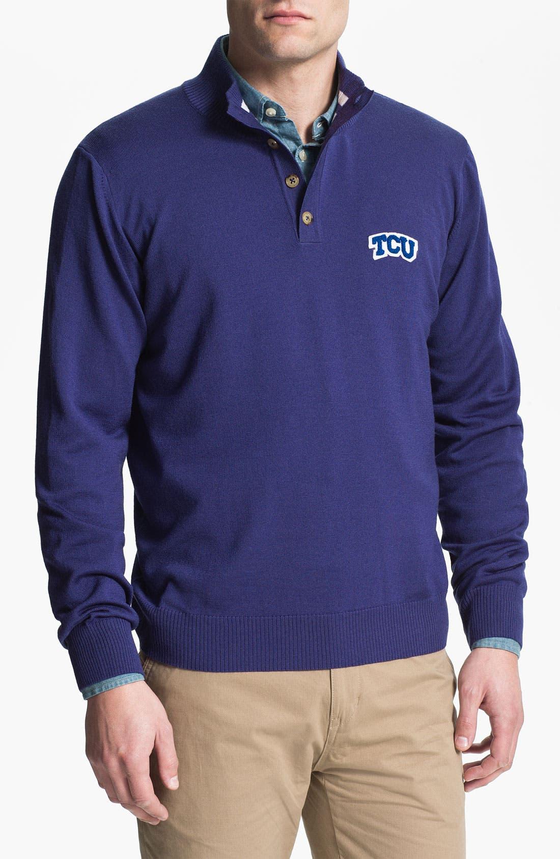 Alternate Image 1 Selected - Thomas Dean 'Texas Christian University' Wool Sweater