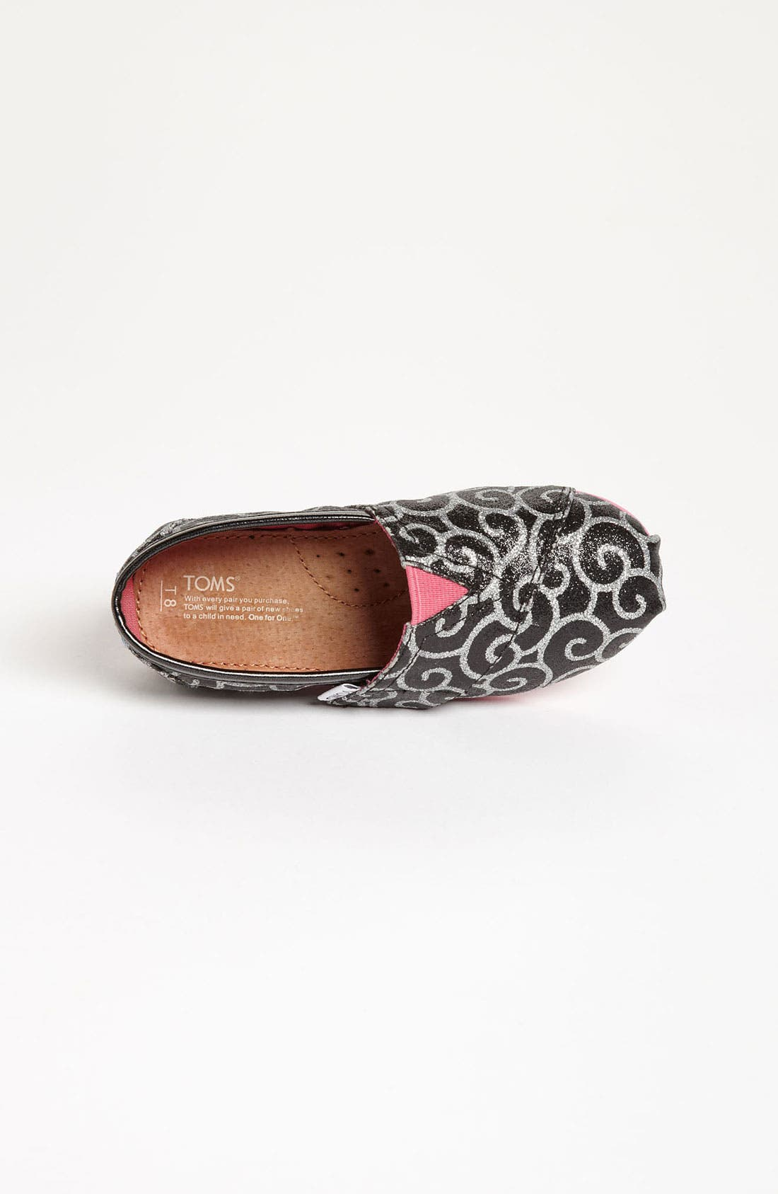 Alternate Image 3  - TOMS 'Classic Tiny - Glitter' Print Slip-On (Baby, Walker & Toddler) (Nordstrom Exclusive)