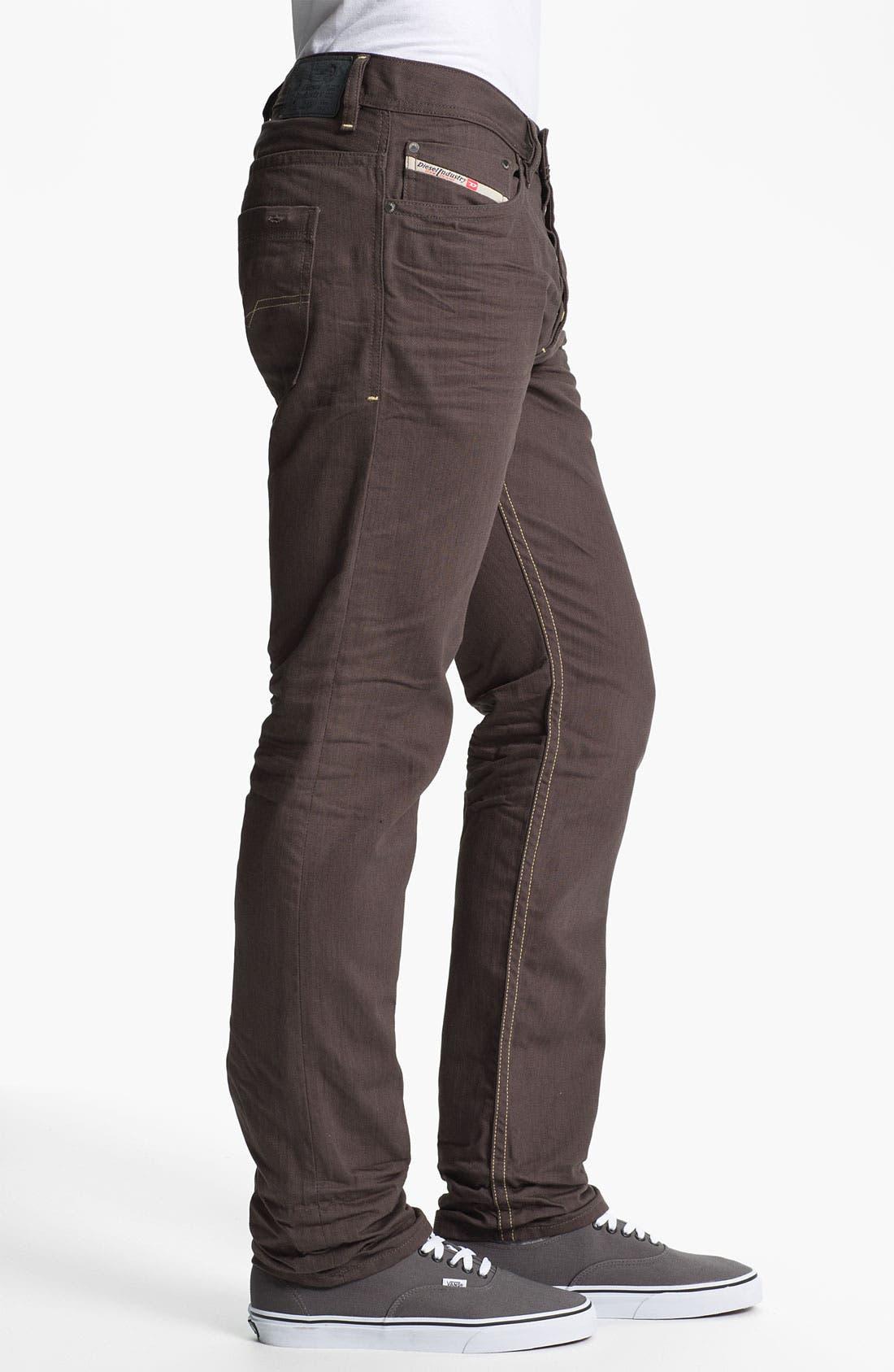 Alternate Image 3  - DIESEL® 'Braddom' Slim Tapered Leg Jeans (Deep Black)