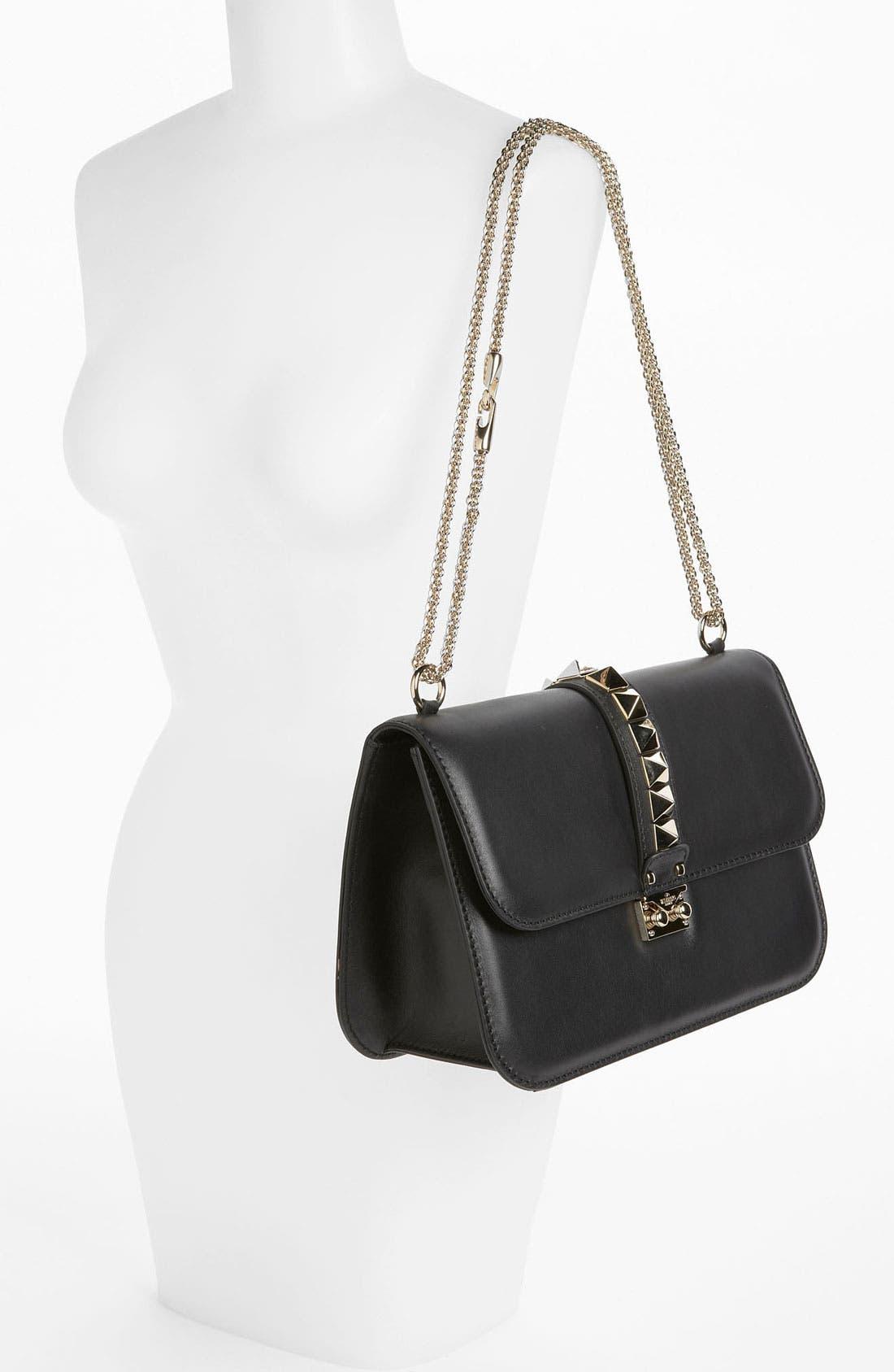 Alternate Image 2  - Valentino 'Lock - Medium' Leather Shoulder Bag