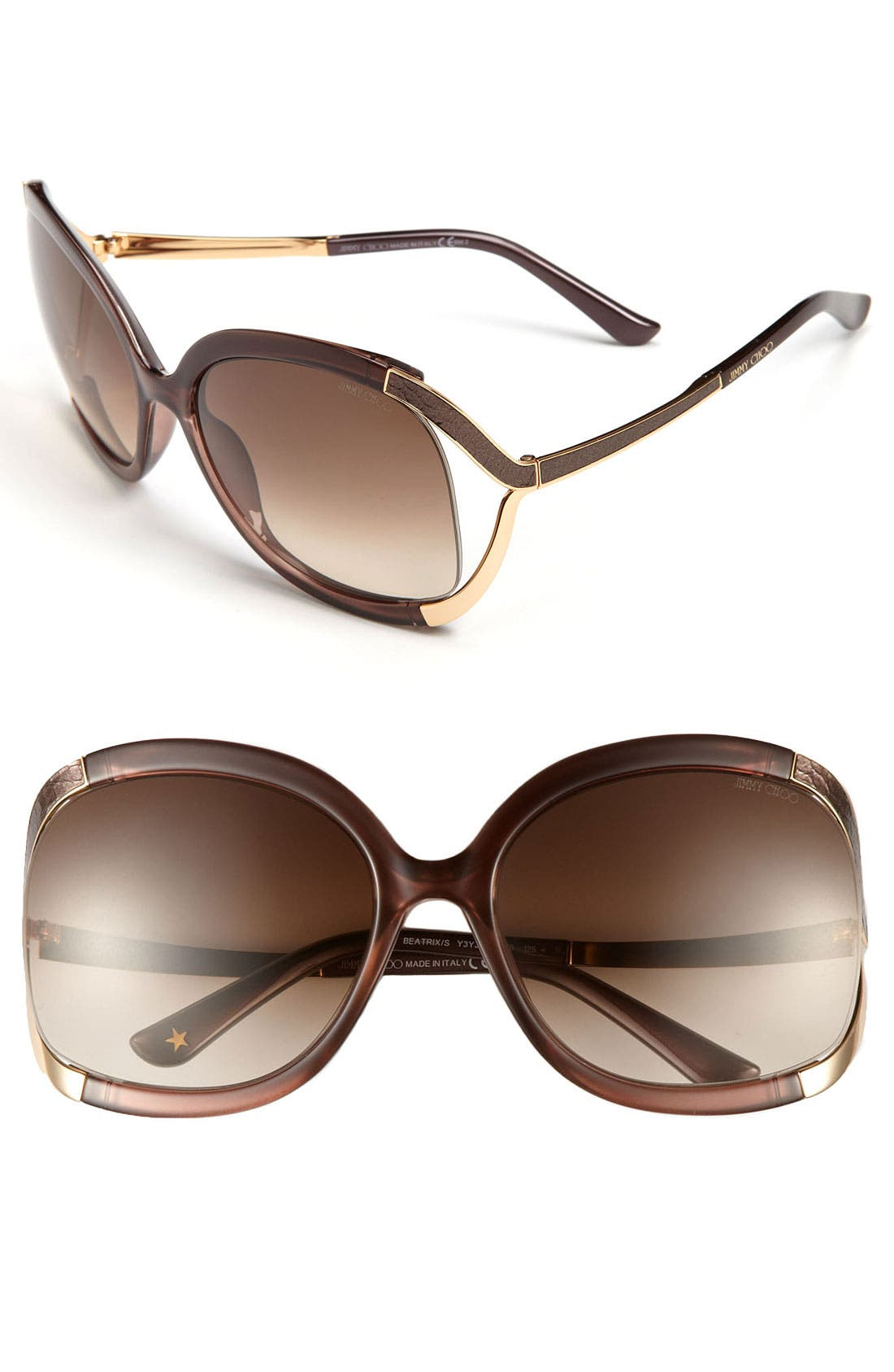 Alternate Image 1 Selected - Jimmy Choo 'Beatrix' 61mm Sunglasses
