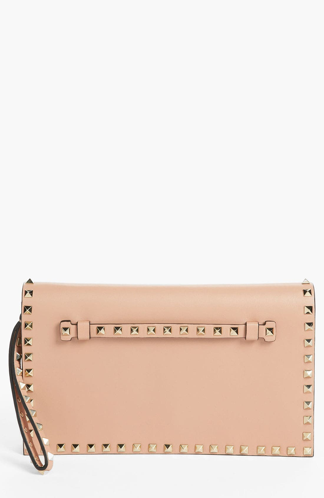 Alternate Image 1 Selected - Valentino 'Rockstud' Nappa Leather Flap Clutch
