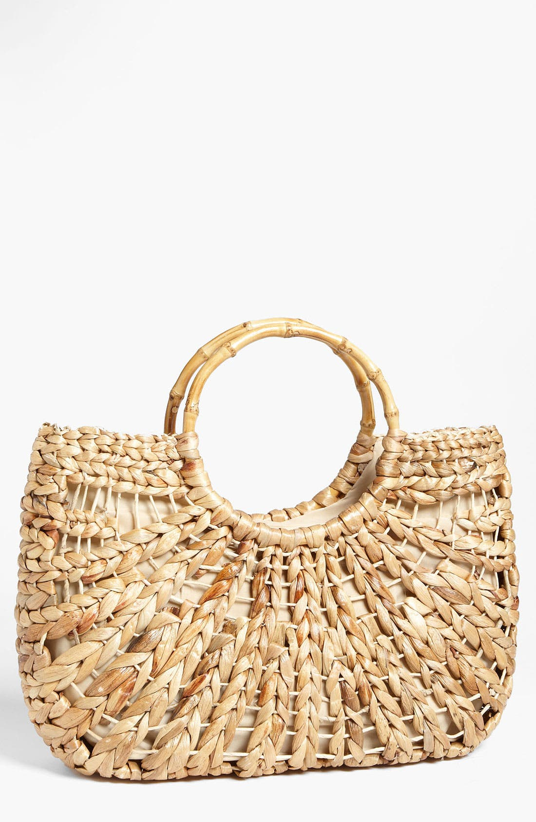 Alternate Image 1 Selected - Straw Studios Woven Straw Tote